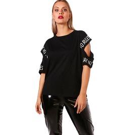 Expression Cold Shoulder Plus Size Shirt