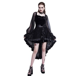Gothic Women's See Through Sleeve Lace Up Dress