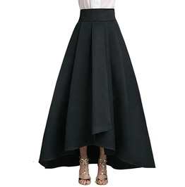 Gothic Women's Mid Waist Pleated Long Maxi Dress
