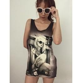 Tattoo Girl Unisex Rock Vest Tank Top