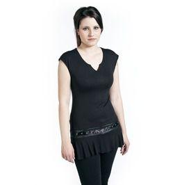 Gothic Rock Black Stud Waist Mini Dress