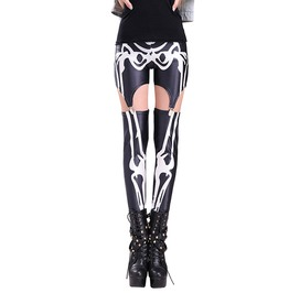 Gothic Women's Skeleton Printed Leggings