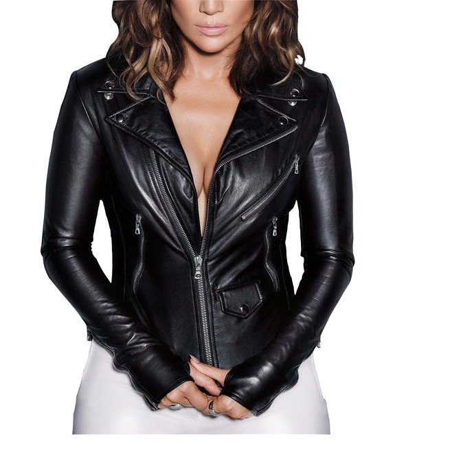Women S Genuine Lambskin Leather Jacket Gothic Soft Rebelsmarket You'll receive email and feed alerts when new items arrive. women s genuine lambskin leather jacket gothic soft slim fit jacket