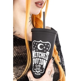Killstar Witches Potion Cold Brew Tumbler Cup Goth Homeware K.Mis.U.2872