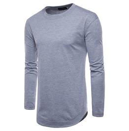 Men's Classic O Neck Coton Long Sleeve T Shirt