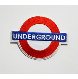 Underground Embroidered Iron On Patch.