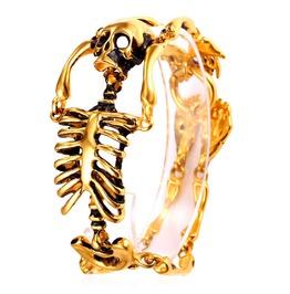 Stainless Steel Skeleton Bracelet By Elliz Clothing (Golden/Silver/Black)