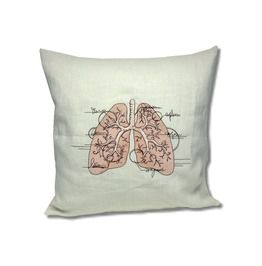 Anatomy Collection Linen Cushion Lungs