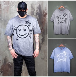 Gradation Smile Grunge T Shirts 997