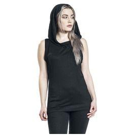 Gothic Elegance Black Sleeveless Gothic Hood