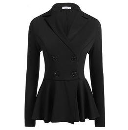 Long Sleeves Burgundy Black Autumn Goth Autumn Womans Blazer Coat