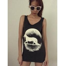 Unicorn Animal Fashion Unisex Vest Tank Top