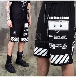 Multiple Pattern Printed Banding Shorts 105