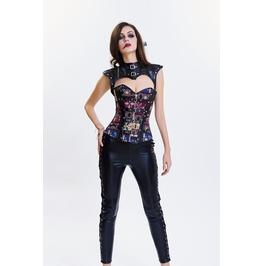 New Halter Steel Bone Women's Punk Rock Faux Leather Buckle Up Party Corset