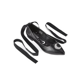 Killstar Starlight Black Pointed Wincklepickers Witchy Moon Flats Shoes