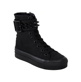 Killstar Unholy High Top Spiky Studded Sneaker Goth Punk Footwear