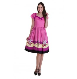 Banned Apparel Ballerina Border Cap Sleeve Dress
