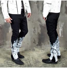 Painted Bottom Zipper Slim Jeans 399