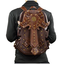 Mens Backpacks Retro Pu Bag Gothic Mens Accessories