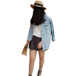 Vintage Women's Loose Fit Denim Jacket