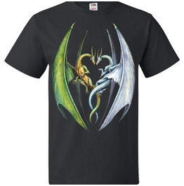 Fantasy Art Entwined Dragons Dragon Lover Shirt Unisex