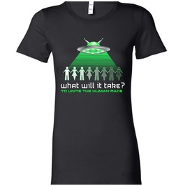 Gothic Alien Ufo Outerspace Human Rights Funny Equality T Shirt Womens