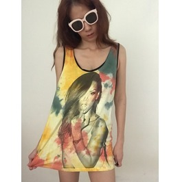 Fashion Color Punk Rock Tank Top