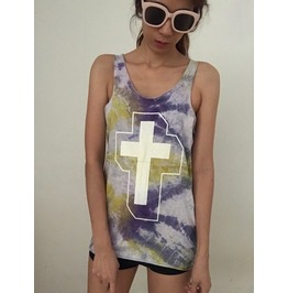 Fashion Punk Pop Rock Tie Dye Vest Tank Top