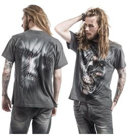 Stitched Up T Shirt Charcoal