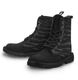 Zebra Print Combat Boots