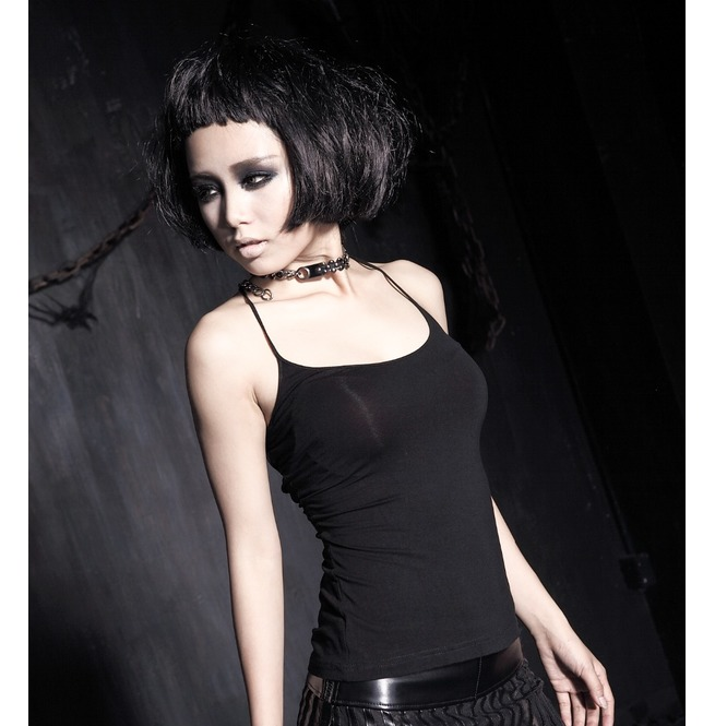 1d2a80c432e Dark Forest Sexy Black Tank Top With Strappy Back