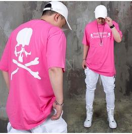 Skull Printed Pink T Shirts 1000