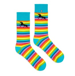 Rainbow Lgbt Socks With Unicorn