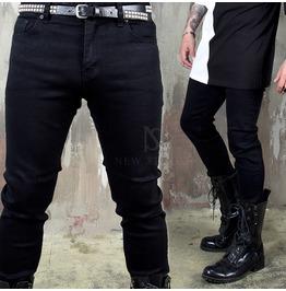 Plain Black Slim Jeans 400