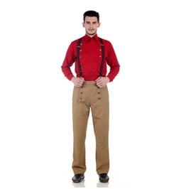 Victorian Steampunk Vintage Style Straight Cut Khaki Architect Pants