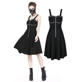 Dw179 Punk Daily Dress With Metal Eyelet Arround Bust