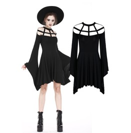 Dw183 Punk Knitted Dress With Mimic Spider Web Shape Design And Big Kimono