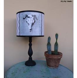 Animal Skull Grey Drum Lamp Shade Lampshade