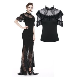 Tw162 Gothic Sexy Lace Short Sleeved T Shirt