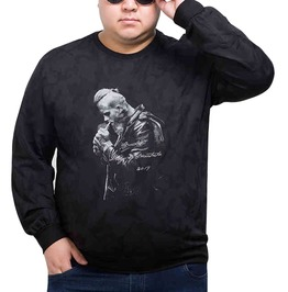 Plus Size 4 Xl 8 Xl Loose Fit Long Sleeve Printed T Shirt Top Pullover Men