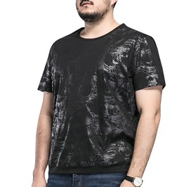 Plus Size 3 Xl 8 Xl Goth Short Sleeve Black Hombre Printed T Shirt Top Tees