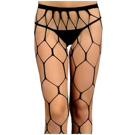 Women's Sexy Hexagon Hollow Out Fishnet Pantyhose Tights