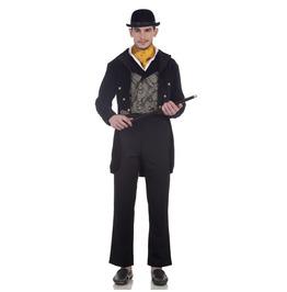 Victorian Long Sleeves Black Collared Gentlemen's Tailcoat
