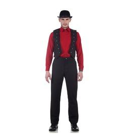 Lafayette Victorian Multi Buttoned Black Suede Vest