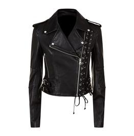 Women Biker Slim Fit Leather Jacket Alternative Style Leather Jacket For Wo
