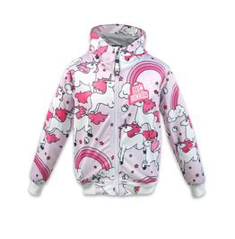 Kids Rainbows Pink Kids Jacket