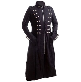 Men Trench Leather Coat Style Gothic Long Coat Real Leather Coat
