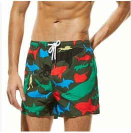 Men's Fashion Printed Drawstring Swimsuit Shorts