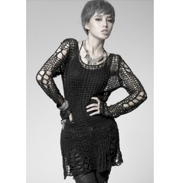 Spring New Arrival Punk Gothic Sexy Jumper Hole Sweater
