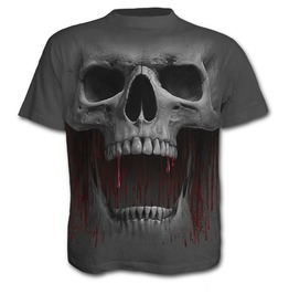 Steampunk Men Skull Print Short Sleeves Tees